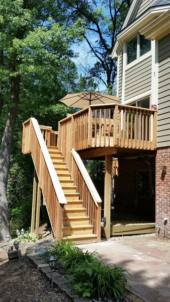 After Deck Staircase Build